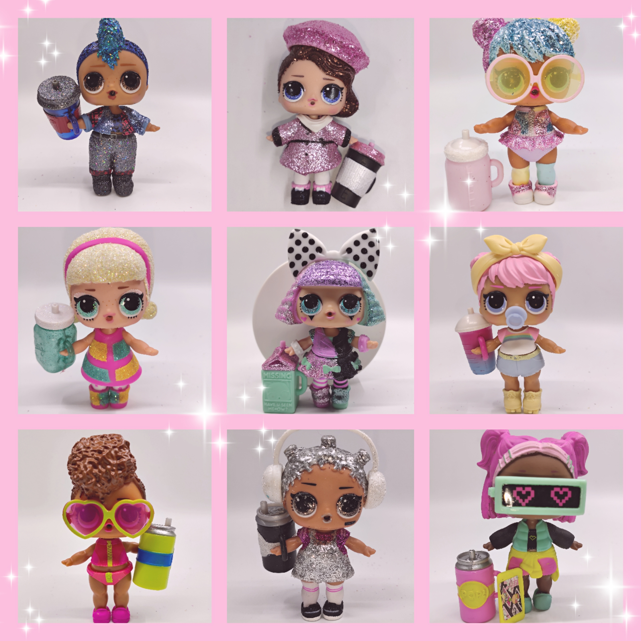 LOL doll Surprise Original 345 generation Official matching hair transplant Christmas glitter series rare toys