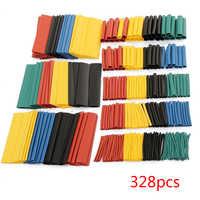 100/127/140/164/328/530 Uds surtido Tubo termorretráctil de poliolefina tubo mangas de Cable envoltura de alambre conjunto de colores mixtos/negro