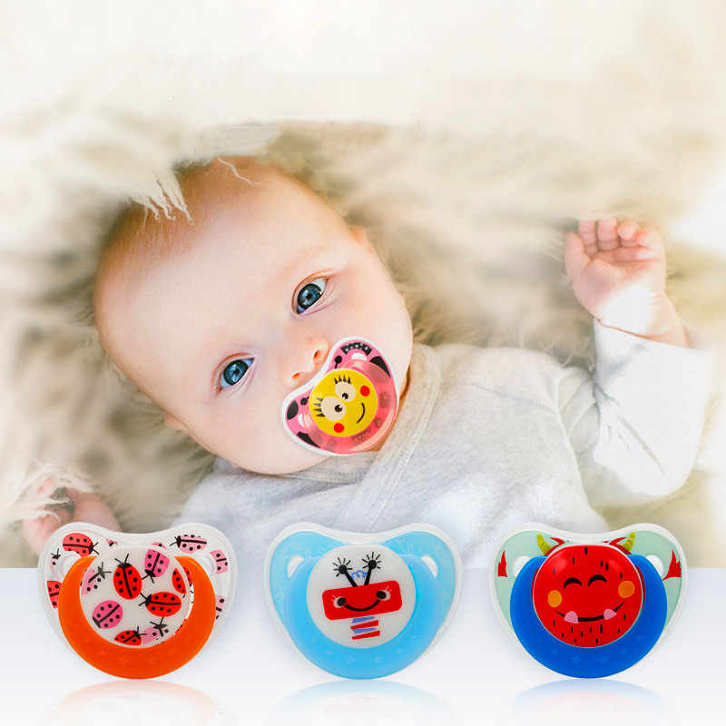 1PC Cute Baby Pacifier Safe Food grade silicone Newborn Infant Toddlers Nipple Soother Anti-dust Lid Infant Teether
