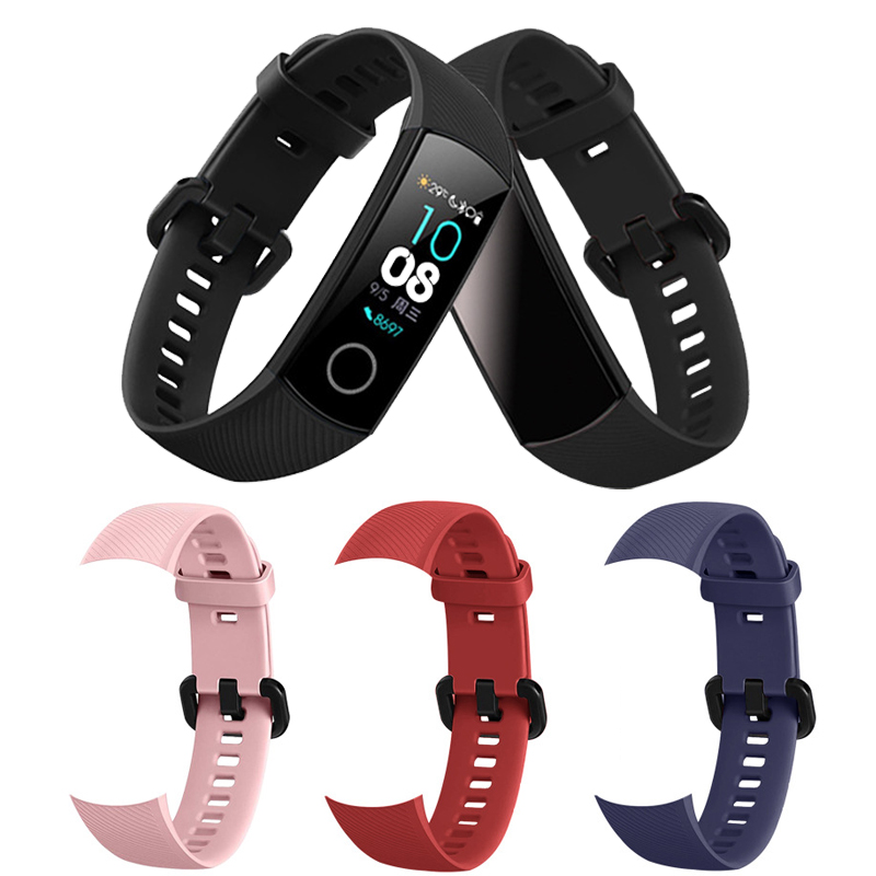Silicon-strap-for-Huawei-Honor-Band-4-Smart-Wristband-sport-watch-band-bracelet-for