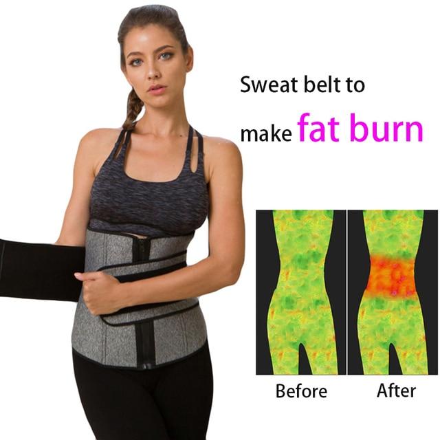 Waist Trainer Belt Reduce Belly Body Slimming Shapers 9 Cincher Corset Sweat abdomen fitness double layer pressure belt 4