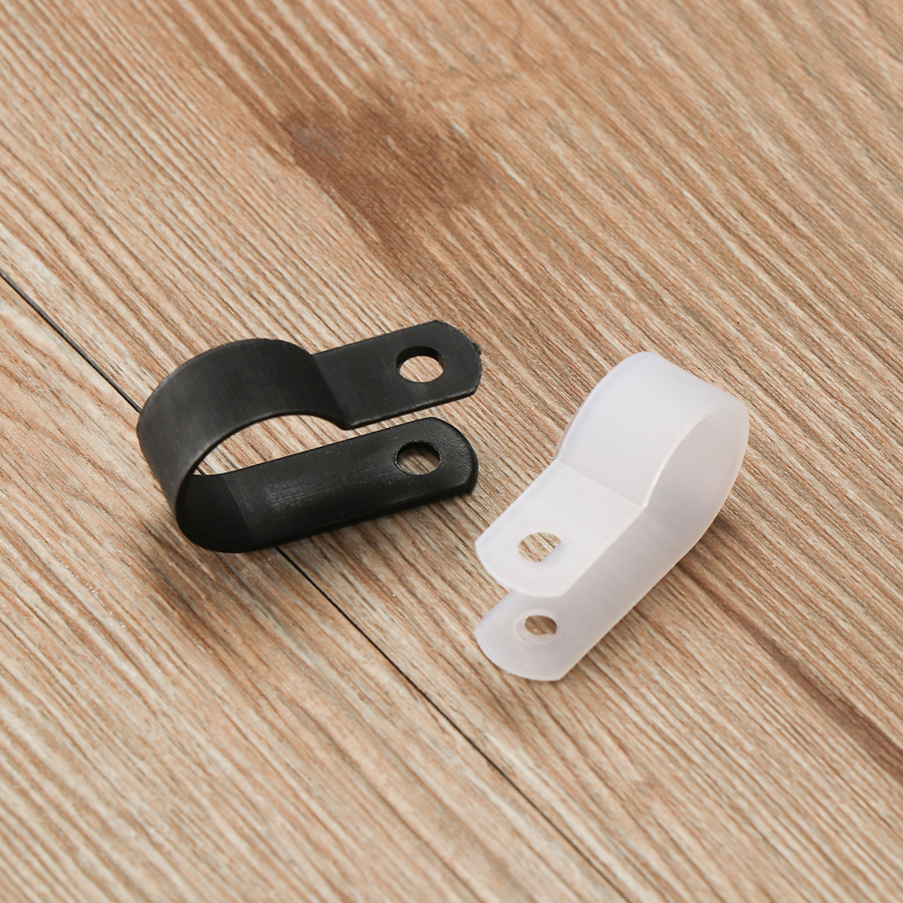 Plastic P Clips//Clamps Adjustable Nylon Cable Wire Conduit Fastener Pack of 10