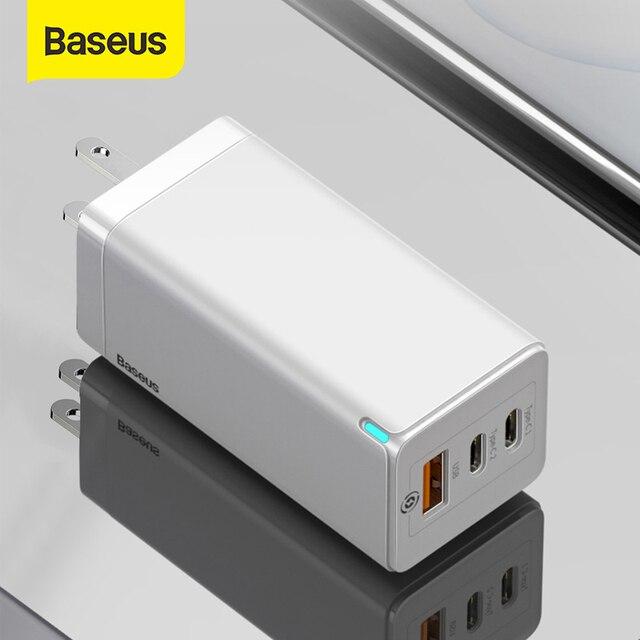 Baseus 65W GaN szybka ładowarka USB szybkie ładowanie 3.0 dla iPhone 12 PD3.0 wtyczka amerykańska wsparcie FCP AFC SCP QC 3.0 dla Samsung S10 Xiaomi