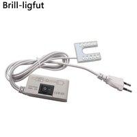 Lámpara para máquina de coser LED, ahorro de energía, 10 LEDs, luces de trabajo, luminaria con montaje de imanes para máquina de coser, enchufe 110-265V EU/US