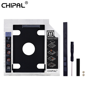 CHIPAL New Aluminum Plastic 9.5mm/12.7mm 2nd Hdd Caddy SATA 3.0 Adapter For 2.5