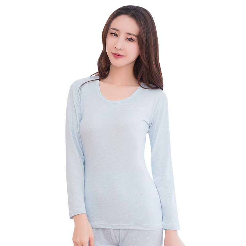 Autumn Winter Long Johns Underwear Thermal Long Sleeves Keep Warm Round Neck Women Winter Clothes Seamless Thermal Set