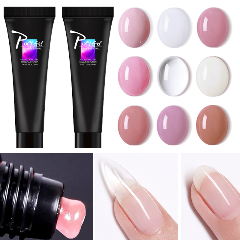 Sarness 9 Colors UV Gel Nail Building Polygel Nails Extension  Acrylic Builder Gel Slip Solution Poly Gel Crystal Nail Art