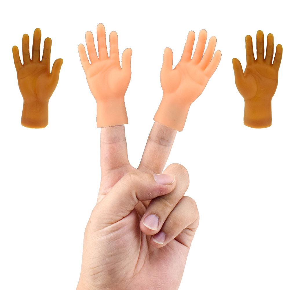 Novelty Funny Five Fingers Open Palms And Fingers Set Of Toys Around The Small Hand Model Halloween Gift Toys