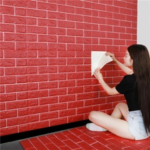 Home Wall Stickers 3D Brick PE Foam Waterproof Wall Covering TV Back Ground Wall Living Room Bedroom DIY Self adhesive Wallpaper self adhesive 3d wallpaper waterproof tv background 3d wall stickers living room wallpaper bedroom decoration brick wallpaper