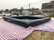 7-meter black square PVC inflatable pool for childrens swimming sale, can be used commercial.