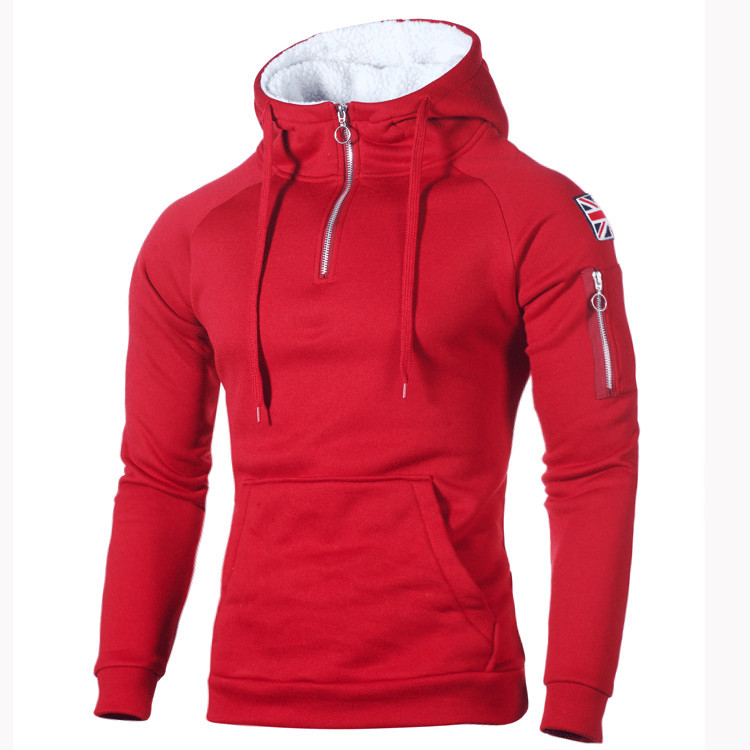 2019 Autumn Winter Sweater Men Fashion Hoody Large Size Warm Fleece Coat Men Sweaters Hooded Sweat Shirts Pull Homme Pullover