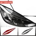 Стикеры для автомобиля из углеродного волокна для BMW F30 F35, веки для бровей, Стайлинг автомобиля для 2013-2019, аксессуары 3 серии
