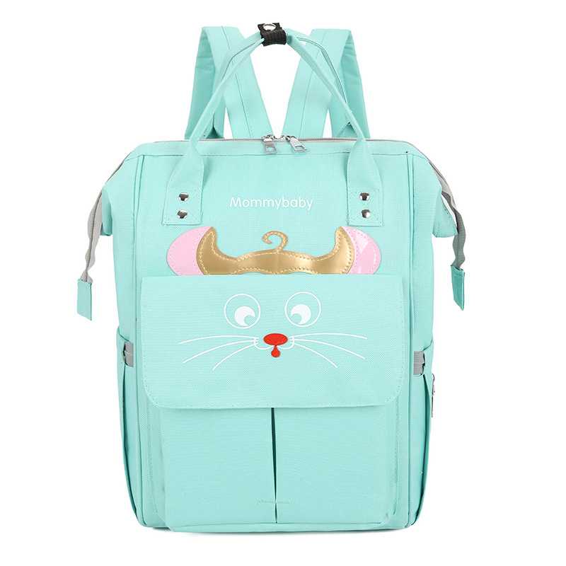 Customizable Origional Korean-style Diaper Bag Oxford Cloth Multi-functional Backpack Large-Volume Embroidery MOTHER'S Bag