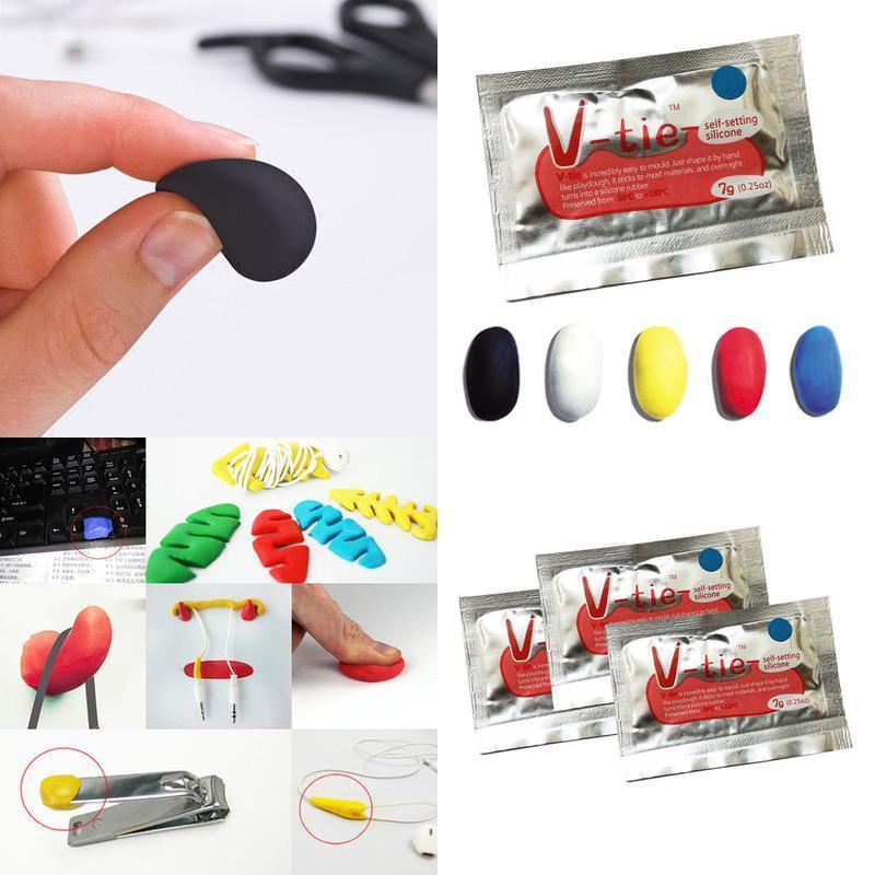 3pcs Useful DIY Mouldable Glue Stick Fix Silicone Rubber Mud Non-toxic Multifunctional Repair Liquid Silicone Heatproof Repair