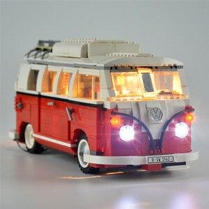 Image 1 - 2020 nova legoinglys 1354 pçs 10220 blocos série técnica volkswagen t1 camper van modelo kits de construção conjunto tijolos brinquedos 21001
