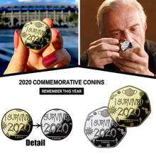 I Survived 2020 Coin Home Souvenir Coins Collection Memento Gift Commemorative Coin New Year Gifts 2021 Gold Coins Collectibles