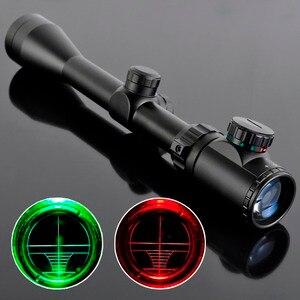 Ücretsiz hava Ak Airsoft 3-9X40EG taktik gece görüş avcılık optik sight sniper Deer tüfek SNIPER kırmızı yeşil nokta kapsam