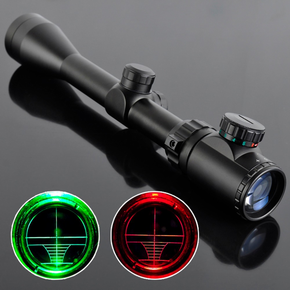 Free Air Ak Airsoft 3-9X40EG Tactical Night Vision Hunting Optic Sight Sniper Deer Riflescope SNIPER Red Green Dot Scope