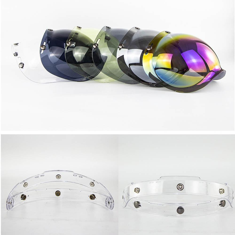 Universal Motorrad Helm Flip up Objektiv Visier Gesicht Schild Maske für Bitwell Vintage Retro