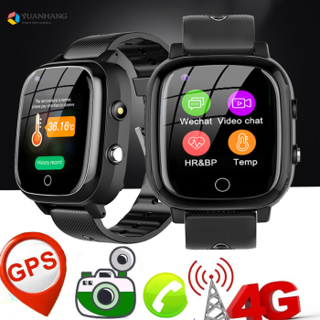 Smart 4G Video Call Watch Elderly Old Man Heart Rate Blood Pressure Monitor GPS WIFI Trace Locate Camera Thermometer Smartwatch 1