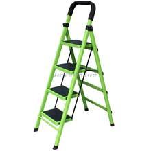 Escalera plegable para el hogar, escalera de espiga, engrosamiento y ensanchamiento, para interior y móvil