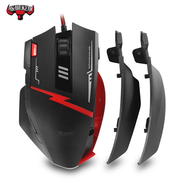 Wired programming mouse 11 key macro mouse pressure gun without rear seat features  gaming mouse