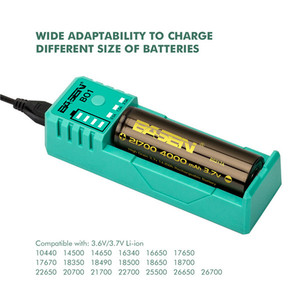 Image 5 - 18650 Smart Charger 3.7V Li แบตเตอรี่ LiIon 26650 21700 Li Li ion แบตเตอรี่ Charger สำหรับสีดำแบตเตอรี่ลิเธียมแบตเตอรี่ 5 V 2A