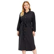 2020 autumn elegent women long sleeve plus size black