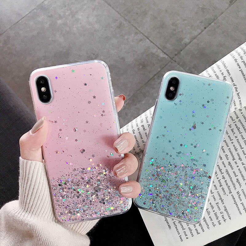 Star Epoxy Case For Huawei Y9 Prime Y7 Y6 Y5 2019 2018 Case Cover On Huawei Honor 8X 10 Lite 8A 9X 8S 20 Pro 20S Nova 5T Covers