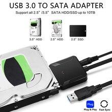 USB 3.0 do SATA 3 kabel Sata do adaptera USB konwerter kable wsparcie 2.5 i 3.5 Cal zewnętrzny dysk SSD Adapter HDD dysk twardy