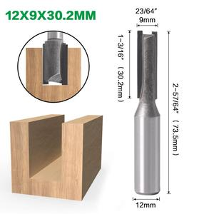 Image 3 - 1pcs 12mm Shank 2 flute straight bit Woodworking Tools Router Bit for Wood Tungsten Carbide endmill milling cutter