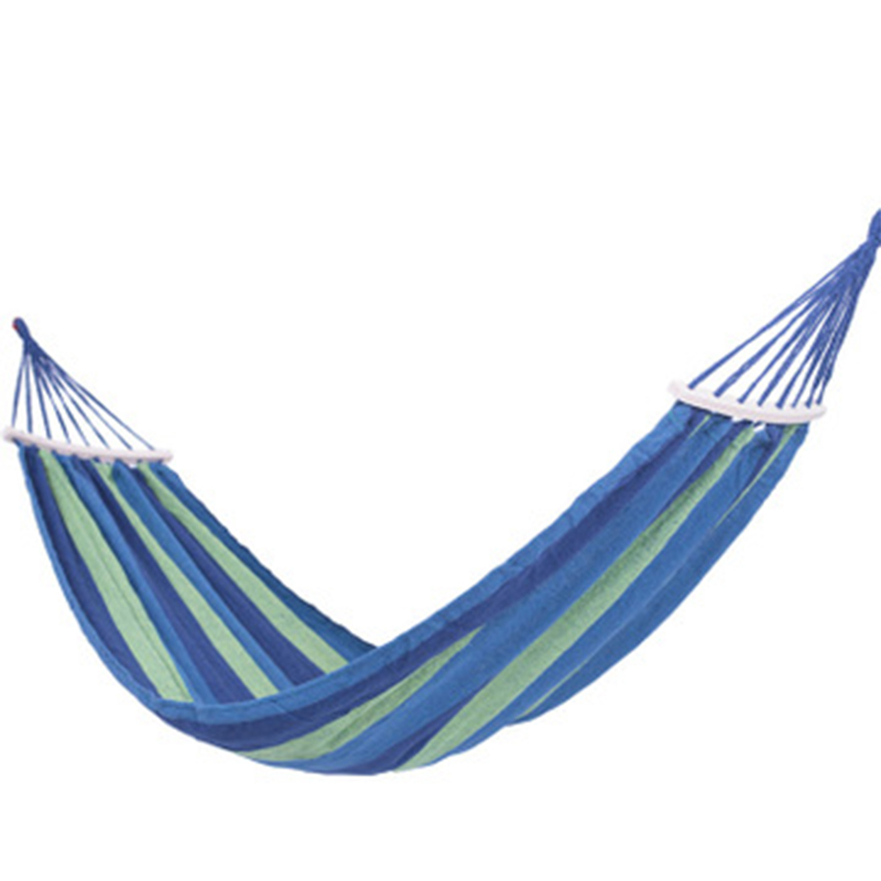 Wide Thick Canvas Hammock Portable Hammock Outdoor Travel Camping Garden Swing Hanging Chair Hangmat With Stick