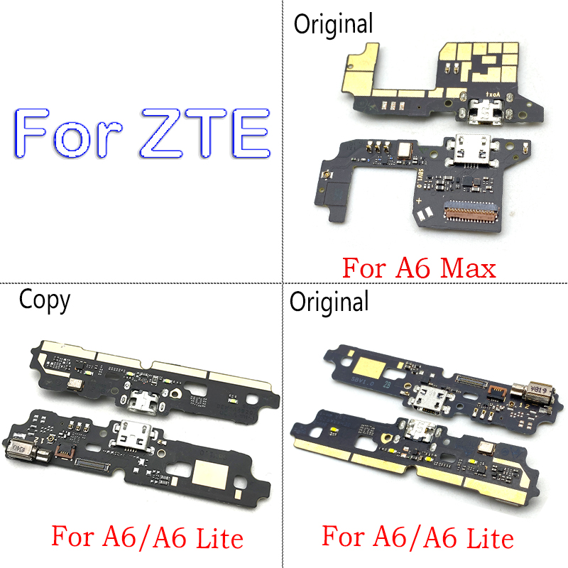 New For ZTE Blade A6 A6 Lite A6 Max Micro USB Charger Dock Connector Charging Port Microphone Flex Cable Replacement Parts