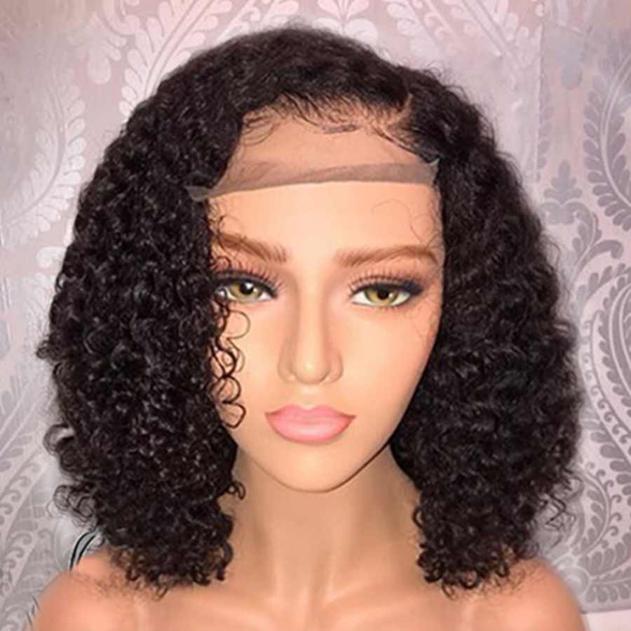 Short 13x4 Lace Front Human Hair Wigs 8-14 Inch Jerry Curly Human Hair Wig Natural Stylish Short Curly For Women Swetcurly