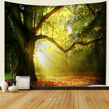 Forest Printed Large Wall Tapestry macrame Hanging Bohemian Tapestries Polyester Blanket mandala Home Decoration