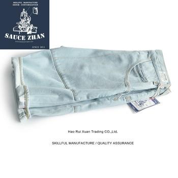 SauceZhan Jeans Men Slim Fit Jeans Shorts Men's Jeans Summer Men Jeans Selvedge Jeans Overalls Jeans Men Jeans Pants фото