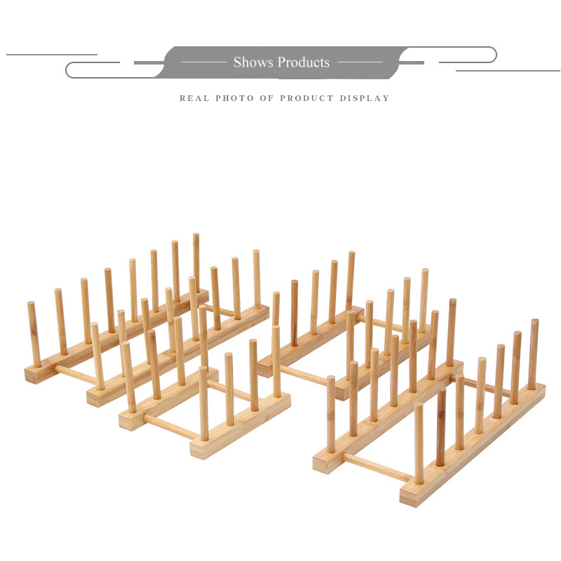Hot selling fashion Bamboo and wood display stand show book plate tray and cup