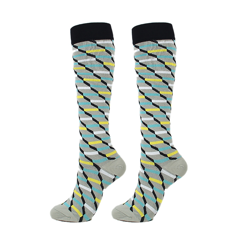 Hf6c197d548d2492294d6d47901e0390bb - New Autumn Women Men Knee-High Socks Long Printed Casual Style Hosiery Footwear Accessories Fashion Compression Socks