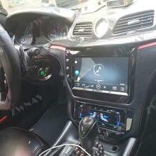 ZWNAV – autoradio noir ou fibre de carbone pour Maserati GT/GC GranTurismo, lecteur multimédia, stéréo, navigation GPS, unité centrale, 2007 – 2017