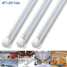 Tube Led T8 Plug and Play, 4/25 pièces, 4FT 6FT 8FT AC85-265V 36W 54W 72W 90W, pour Garage, entrepôt et atelier