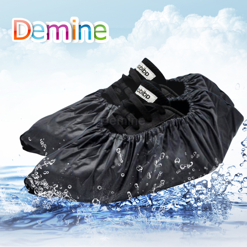Rubber Boots Shoe Cover Rubber Thicken Rain Reusable Elasticity Overshoes Anti-slip Bike Boot Protector Covers Dropshipping