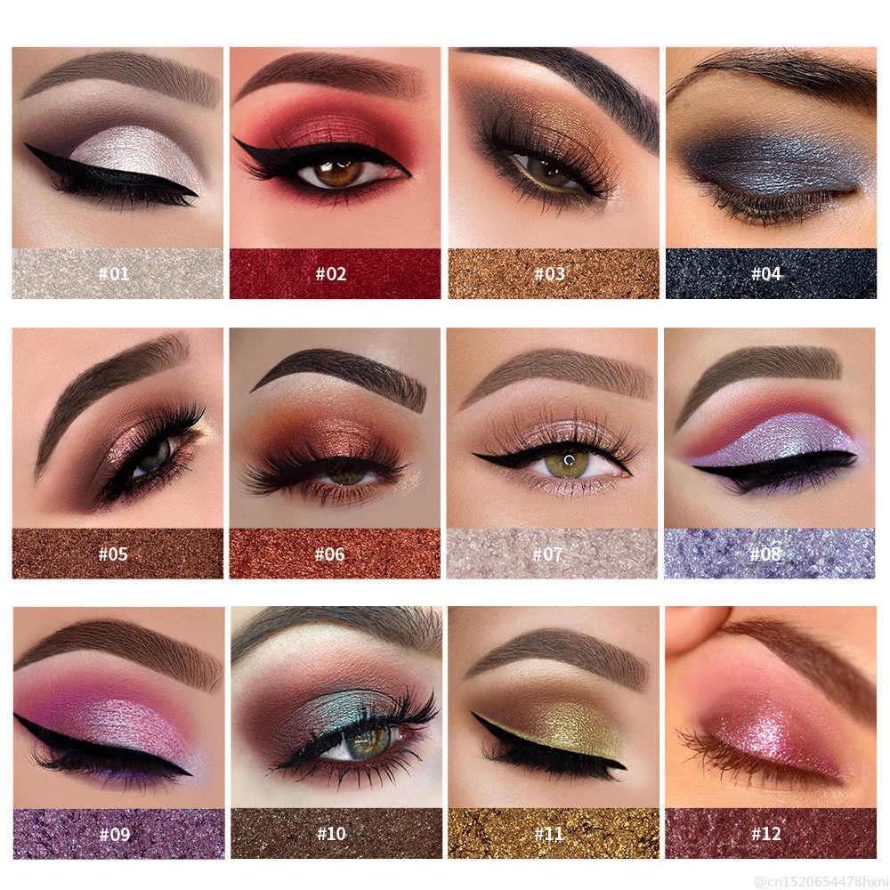 HANDAIYAN métallique paillettes ombre à paupières palette longue durée imperméable doux miroitant maquillage des yeux maquillage cosmétique Maquillajes TSLM2