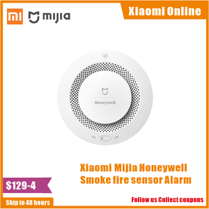 Image 1 - Xiaomi Mijia Honeywell Rauch feuer sensor Alarm Detektor Akustischer optischer Rauch Sensor Fernbedienung Mi Hause Smart APP Control