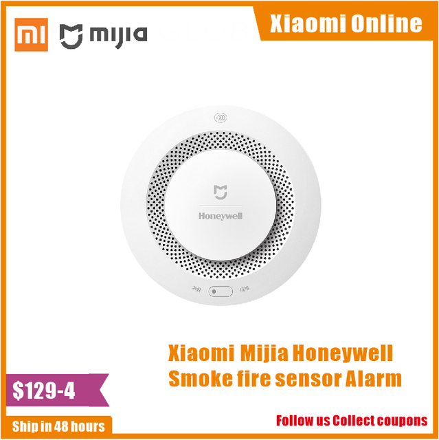 Xiaomi Mijia Honeywell Smoke fire sensor Alarm Detector Audible Visual Smoke Sensor Remote Mi Home Smart APP Control