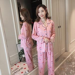 Image 4 - Womens Sleepwear Sexy Pajamas Sets Long Sleeve Top + Pants Autumn Winter Cute 2 Pieces Pyjama Pj Sets Ladies Cute Homewear