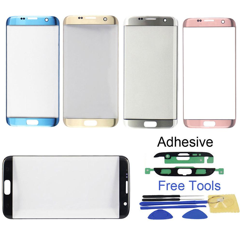 Replacement Front Glass <font><b>Lens</b></font> Touch Screen Replace for <font><b>Samsung</b></font> <font><b>Galaxy</b></font> <font><b>S7</b></font> Edge G935 Phone Outer Glass <font><b>Lens</b></font> Repair Tool Kits +Tool  image