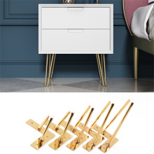 4Pcs 4 5 6 7Inch Gold Hairpin Legs to Install Metal Legs for Furniture Mid-Century Modern Legs for Coffee and End Tables Chairs