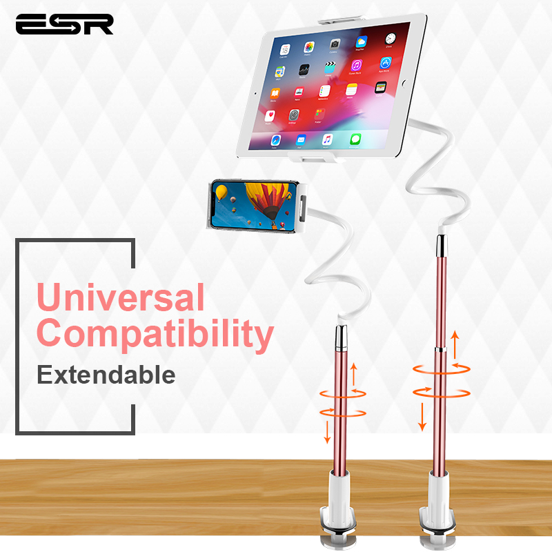 ESR Universal Rotary Tablet PC Holder Foldable Adjustable Angle Desk Smartphone Stand for iPhone XS iPad Tablet PC Samsung S10+-in Tablet Stands from Computer & Office on AliExpress - 11.11_Double 11_Singles' Day 1