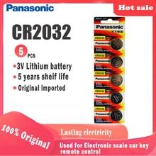 5pcs Originale Panasonic cr2032 cr 2032 3V Batteria Al Litio Per Watch computer Calcolatrice della moneta delle cellule del tasto di Controllo A Distanza batteria