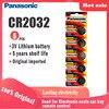 Оригинальная литиевая батарея Panasonic cr2032 cr 2032 3 в для часов, компьютера, пульта дистанционного управления, калькулятора, часовая батарейка, монетная батарейка, 5 шт.